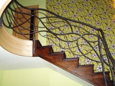 schody z metaloplastyką